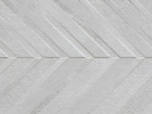 wall tile in chevron pattern in light grey color