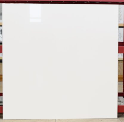 36x36 plain white tile with through body for high traffic commercial floors.