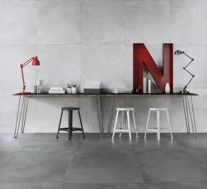 36x36 concrete tile in light grey color for modern interiors