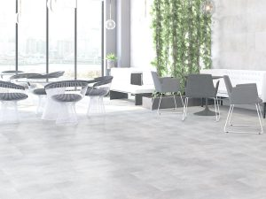 large porcelain tile that looks like concrete in grey color