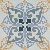 Moroccan Tile Blue Face 11