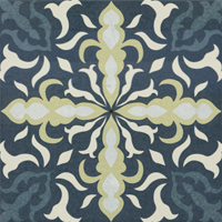 Moroccan Tile Blue Face 12