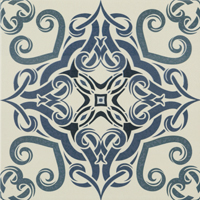 Moroccan Tile Blue Face 1