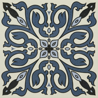 Moroccan Tile Blue Face 5