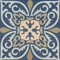Moroccan Tile Blue Face 6