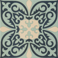 Moroccan Tile Blue Face 8