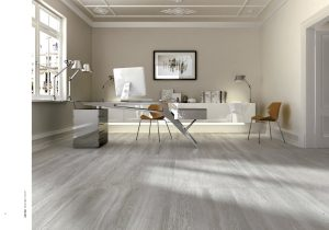 ash grey porcelain tile that looks like wood in large plank tile size