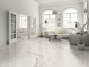 white floors with Estatuario