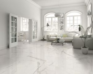 white floors with Estatuario