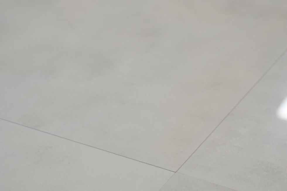 commercial grade tile Cosmos White's picture on the floor