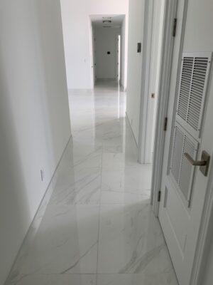 White tile baranello in hallway