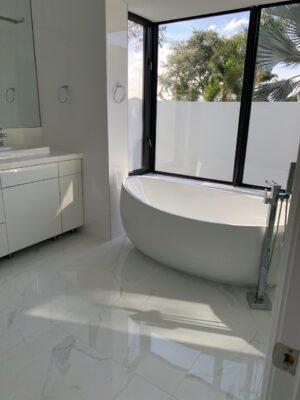 White tile baranello in bathroom 2