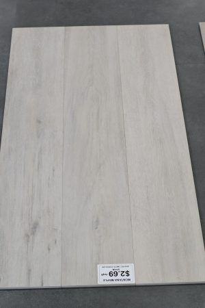 3 pieces of Wood look tile Montana Maple picture taken in TSW showroom
