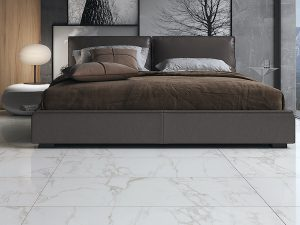 white bedroom floors with golden dream marble.