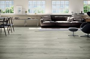 extra large wood look tile with the look of gray floors