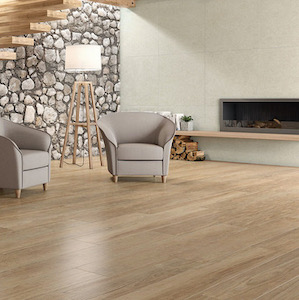teak wood style wood tile floors in large format