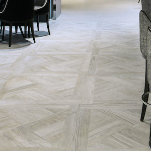 white washed wood look tile