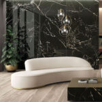 black porcelain tile accent wall for front page